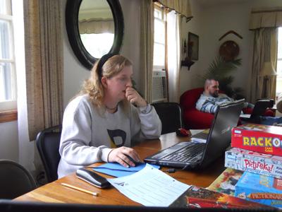 Anne and Kraig thinking