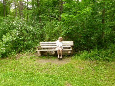 image - stopping for a rest on the trail