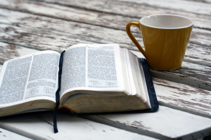 The best way to start the day... Gods Word and coffee