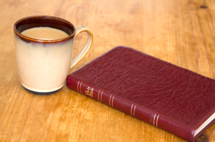 image - coffee and the Bible