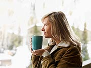 image - woman sipping coffee