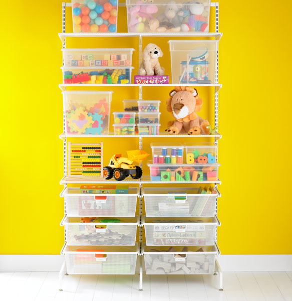 the Elfa Free Kids Storage unit from the containerstore.com
