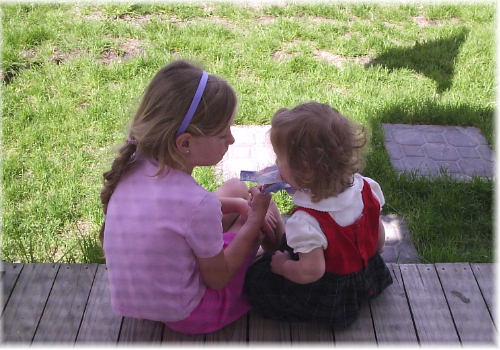 sharing summer popsicles