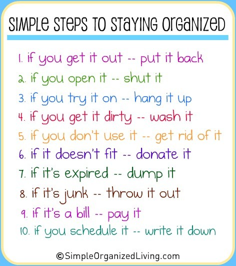 image - simple rules to stay organized