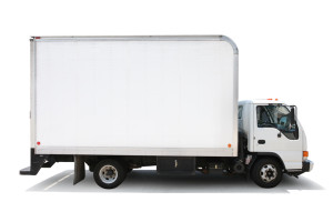 image - white moving truck