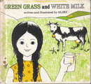 green grass and white milk