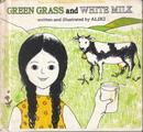 green grass and white milk