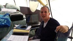 My tent office