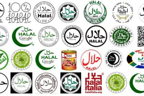 Halal symbols on food packaging