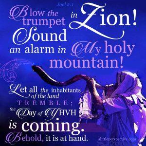 Joel 2:1 | Scripture Pictures | www.alittleperspective.com