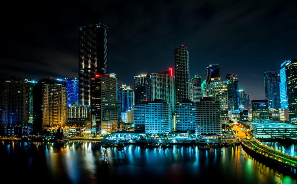 Miami Nighttime Skyline